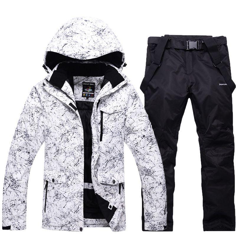 Hommes veste de Ski hiver Snowboard costume hommes en plein air chaud imperméable coupe-vent respirant vêtements