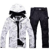 Men Women 2019 New Thicken Warm Ski Suit Outdoor Winter Windproof Waterproof Thermal Snowboard Male Skiing Jacket Snow Clothes