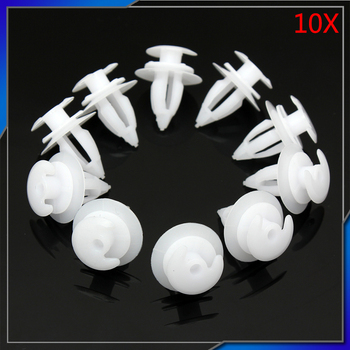 10x White Interior Door Trim Panel Clip Push-Type Retainer 51411973500 for BMW E34 E39 E46 E36 E38 E52 E53 E70 X5 Z3 D57 image