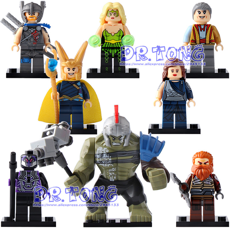DR TONG 80PCS/LOT X0165 Super Heroes Thor Amora Jane Foster Hulk Loki Sakaarian Guard Grandmaster Volstagg Building Blocks Toys dr tong 80pcs lot sy658 super heroes hulk superman thor batman ironman spiderman building blocks bricks diy toys children gifts