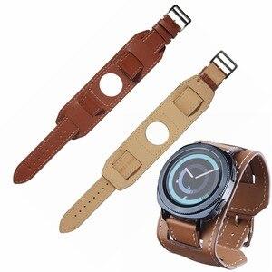 Image 4 - 22mm 20mm 정품 가죽 시계 밴드 커프 스트랩 팔찌 삼성 기어 S3 기어 S2 화웨이 시계 2 Huami AMAZFIT Watchband sams