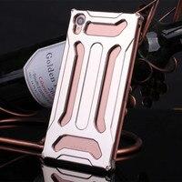 TX Luksusowe Aluminiowa Obudowa Metalowa Pokrywa Przednia Powrót Skóry etui Ochronne dla Sony Xperia Z3 D6603 D6633 Z Narzędziami Śruby torby Phone