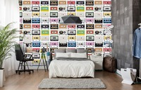 [Self Adhesive] 3D Audio Tape Cartoon 1 Wall Paper mural Wall Print Decal Wall Murals