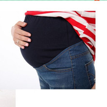 New Hot Summer Style Elastic Waist Denim Pants for Pregnant Light Denim Maternity Jeans Women Pregnant Shorts Maternity Clothing(China)