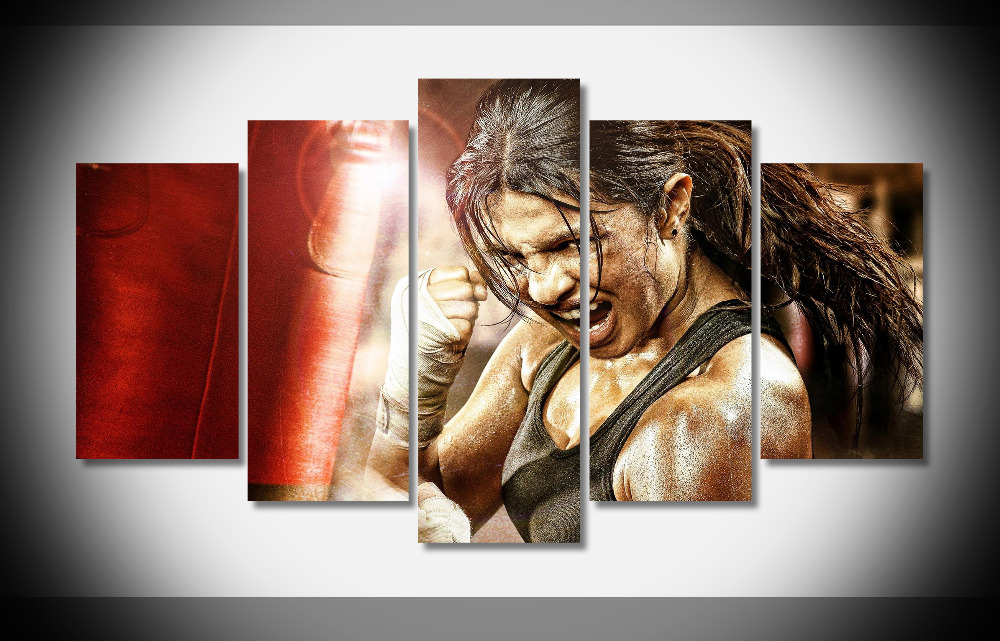 5244 Priyanka Chopra In Mary Kom Movie Poster Poster Framed Gallery wrap art print home wall decor wall picture Already to hang