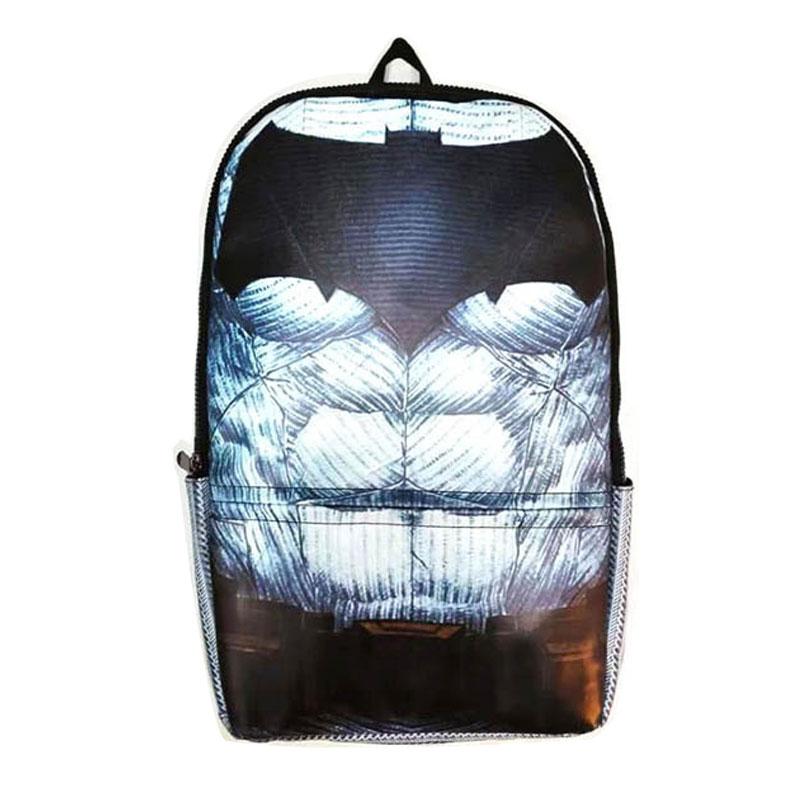Komiksai Anime Batmano kuprinė Didelės talpos odiniai mokykliniai krepšiai Cartoon Animation Hero Dark Knight Men mochila kuprinės