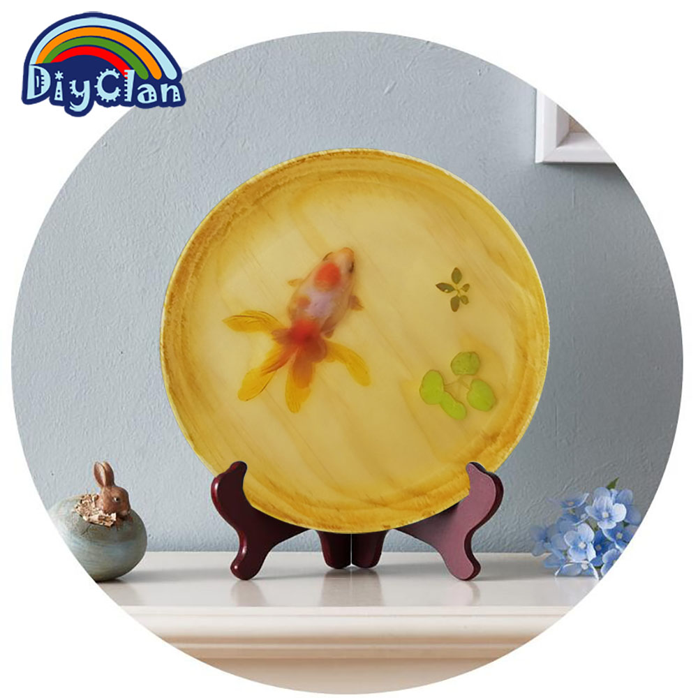 3D fish resin wall art decoration Creativity goldfish hanging dish ...