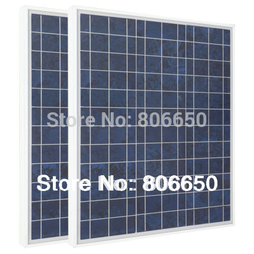 *80W- 2pcs 40W 12V Poly Polycrystalline Solar Panel 12V for Charge 12V battery free shipping new uk stock 40w 12v poly solar panel poly solar module high quality free shipping