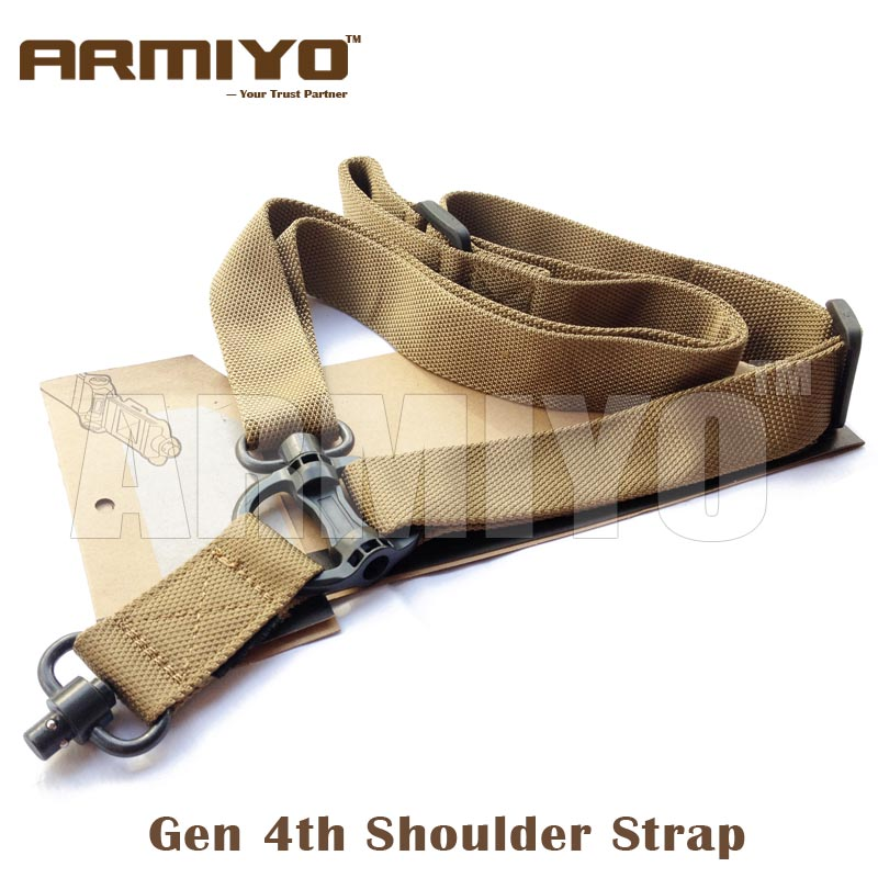 Armiyo Gen 4th Quick Release Elastic Shoulder Strap Harnesses 1.25 Snap Metal Hook Mission Hunting Shooting Sling Accessories