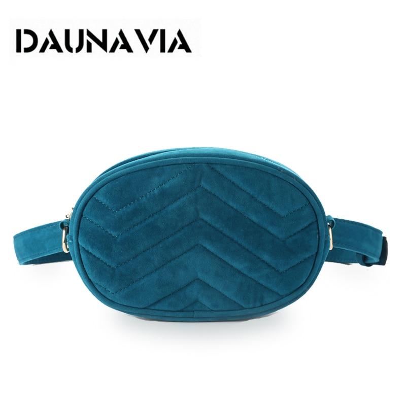DAUNAVIA Waist Bag Women Waist fanny Packs belt bag luxury brand bags for women 2019 new fashion high quality corduroy waist bag