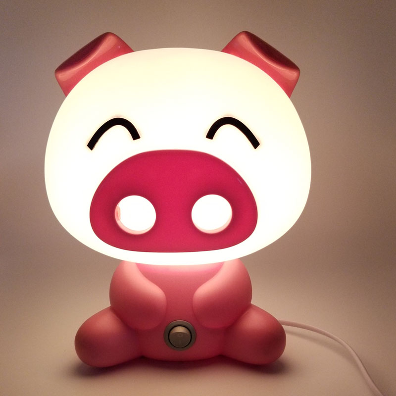 Lovely Pig Lights Modern Cute Baby Bedroom Lamp Night Light Led Night Lamp Christmas Gif ...