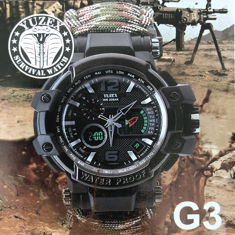 3654719df31 EDC Acampamento Ao Ar Livre Multi-funcional relógio relógio Termômetro  Bússola Resgate Corda Pulseira Paracord