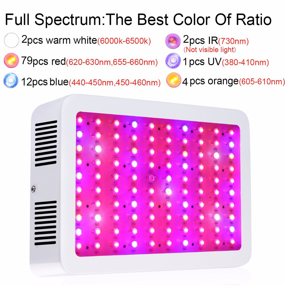 2PCS 1000W Full Spectrum High Yield LED Grow Light For plants hydroponics Veg Flower Fruit indoor greenhouse grow tent lamps