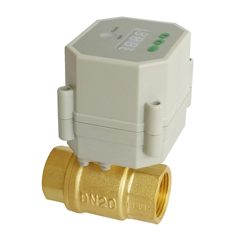 3/4'' brass time control electric valve, AC110V-230V electric timer valve for garden water irrigation Drain water air pump ac110v 230v bsp npt 1 2 time controlled motorized ball valve for garden air compressor drain water air pump water control