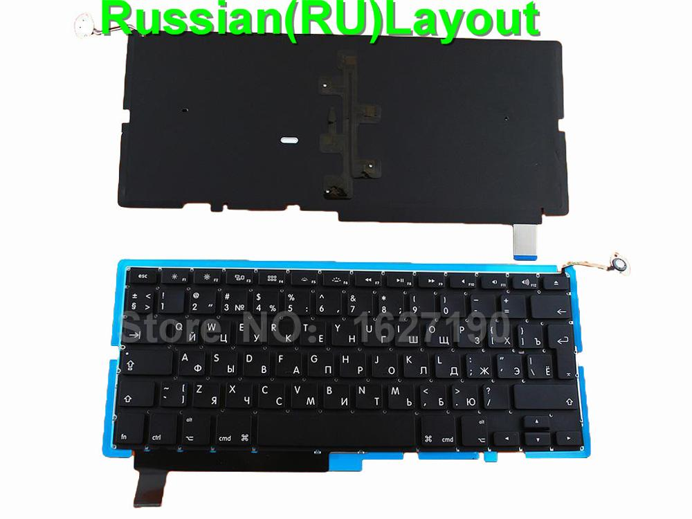New RU Russian Keyboard for APPLE Macbook Pro A1286 BLACK For 2008 Backlit RU Laptop Keyboards ru keypad for samsung np300e5a np305e5a np300v5a np305v5a np300e5c russian keyboard black free shipping