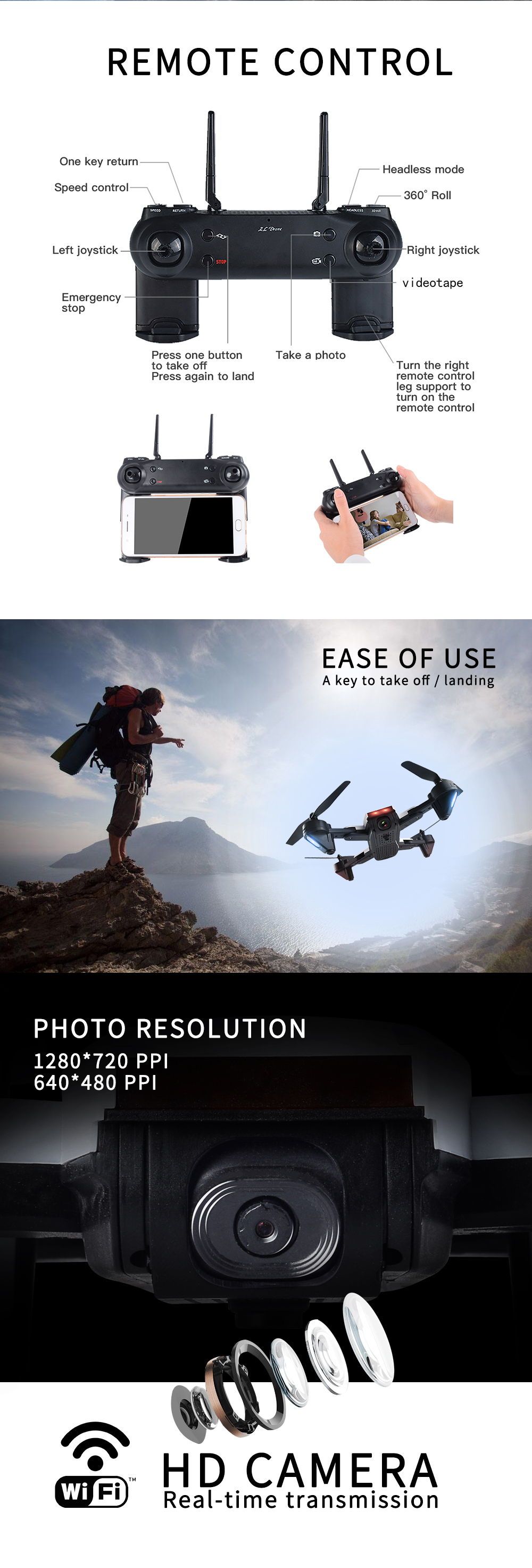 SG700 RC Drone with Upgraded version 1080P Camera/7P/0.3MP/No camera Drone Altitude Hold Headless Dron PK E58 CG033 Drone 4