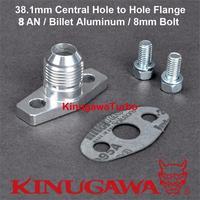 Kinugawa Turbo Oil Return Flange Kit 8AN for Garrett GT28 GT30 GT35 Ball Bearing