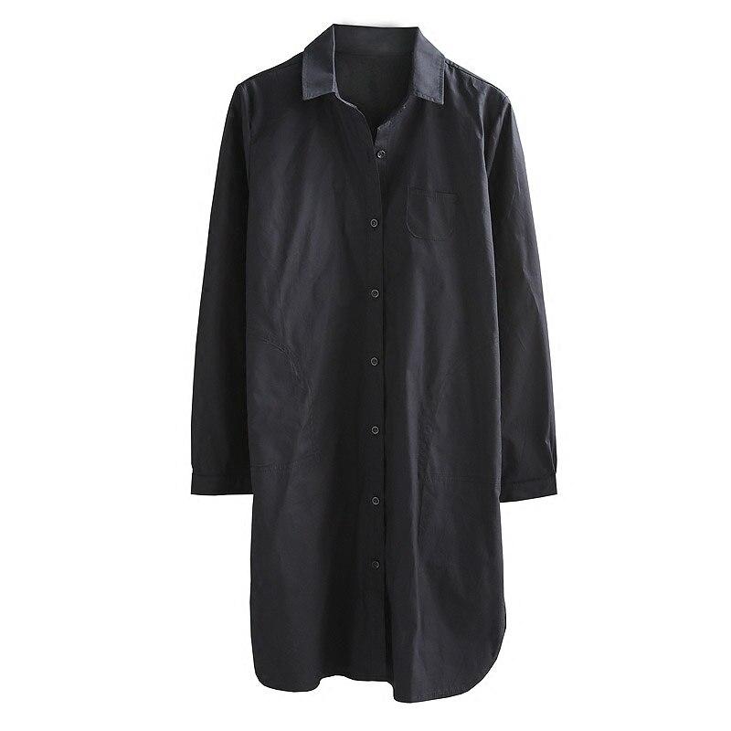 Talla Negro 4xl Sueltos Colores De S Tops Largas Bf Blusa Novio Long Gran Casual Para Grande Camisas Mujer Corto Moda Estilo 2 Blouse Cuello white Tamaño wBqaExXdYE