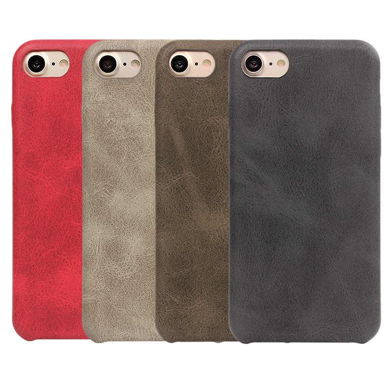 Gykz Retro Imitasi Kulit Asli PU Kasus untuk iPhone 7 7 Plus 6 6 S Plus Penutup Belakang case untuk iPhone 6 S Plus Fundas