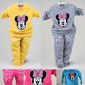 Minnie Girls Clothes Sets Fashion Character Cotton Embroidery Children Sweater Pant Kids Sport Suits Clothing Suit T-Shirt Pant