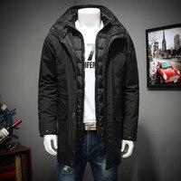 Большие размеры 10XL 9XL 8XL 7XL Водонепроницаемый зимняя куртка Для мужчин теплый 2 в 1 парки ветрозащитный съемный капюшон зимнее пальто Большой