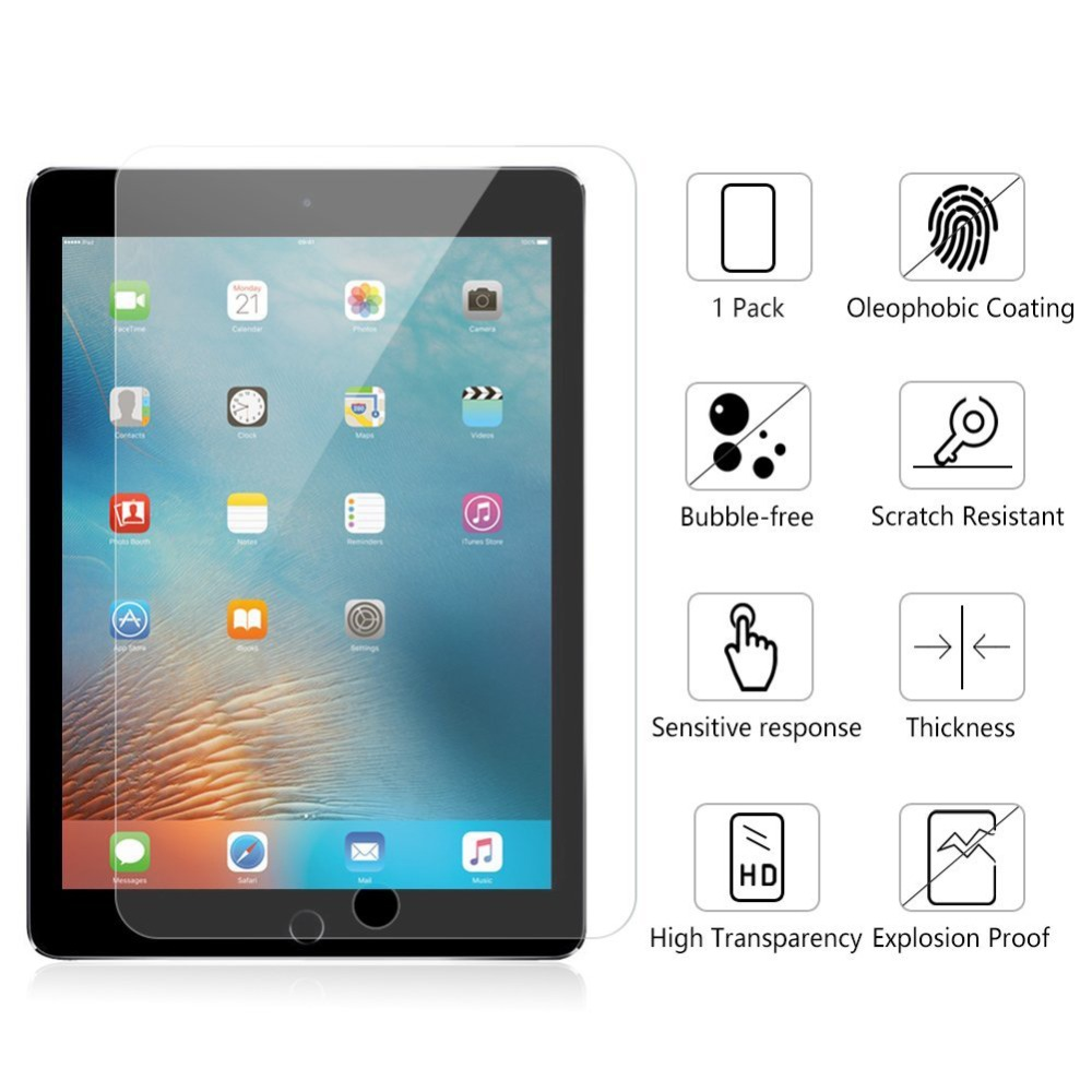 2pcs/lot Screen Protector For iPad 2 3 4 5 6 Tempered glass Mini screen protector