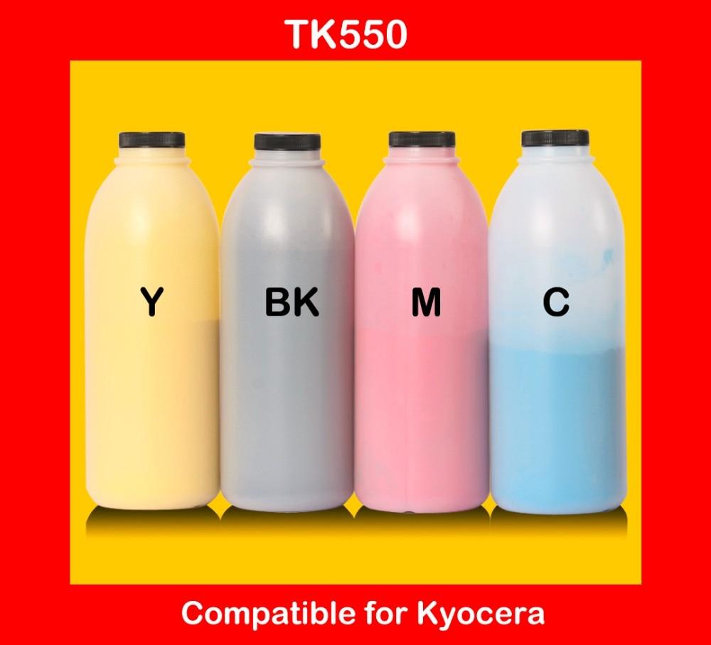 compatible for kyocera tk550 refill color toner powder high quality color toner cartridge powder free shipping high quality color toner powder compatible kyocera c5350dn free shipping