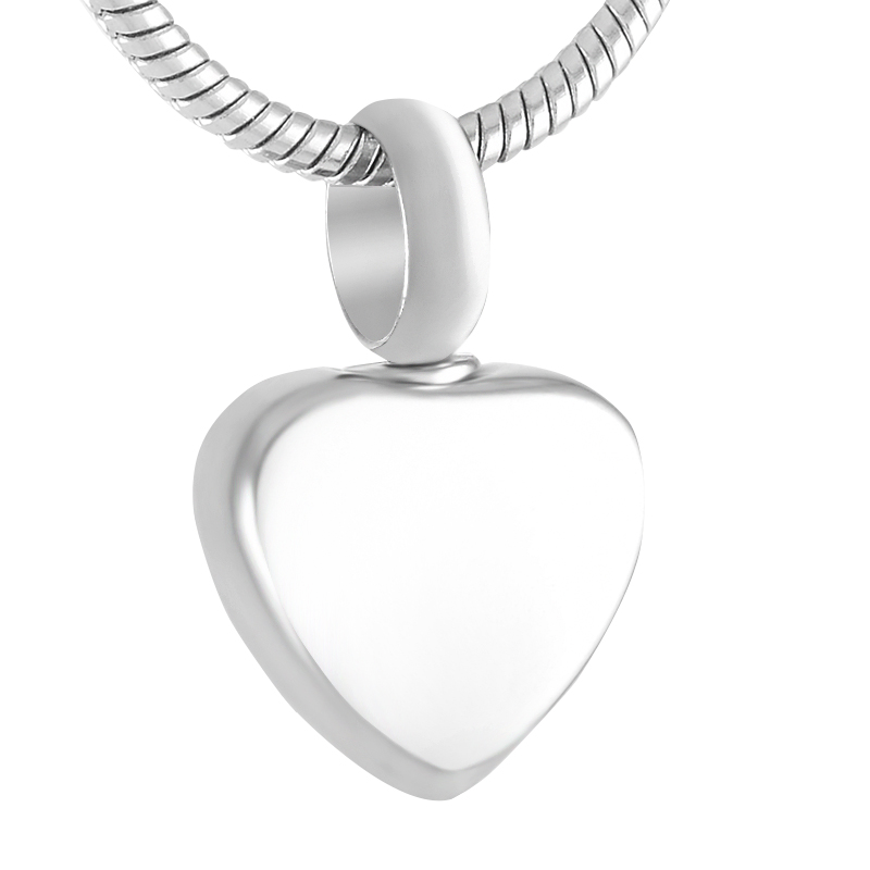 IJD9412 Small Heart Urn Charm 50pcs/lot Silver Color Stainless Steel High Polish Memorial Ashes Keepsake Urn Heart Charm-in Pendant Necklaces from Jewelry & Accessories    1