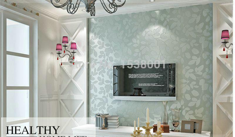 Blue Living Room Wallpaper Home Decorating Interior Design