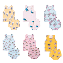 TinyPeople 2020 new baby girl summer clothes 2/piece baby girl outfit set newborn baby boy clothes cute infant dress kids gift newborn kids outfit baby boy girl clothes hoodie sweatshirttops pants gift sets