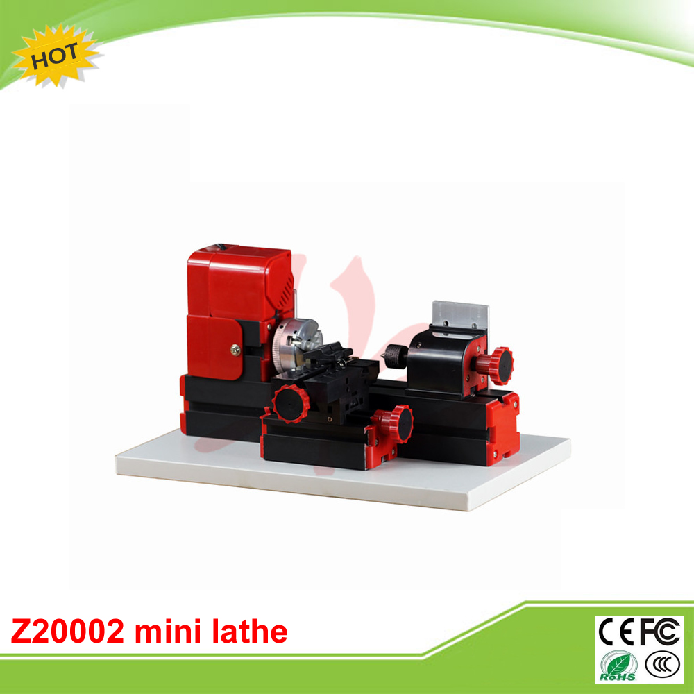 Mini Metal lathe machine Z20002 mini woodworking lathe machine for Teaching of School & DIY amateur adjustable double bearing live revolving centre diy for mini lathe machine