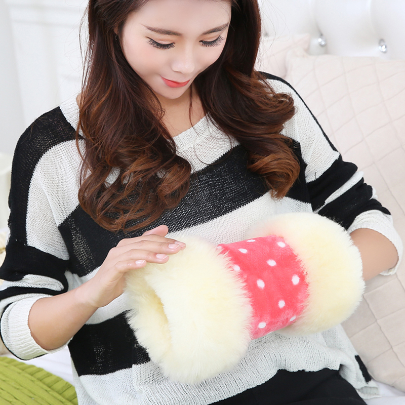 100 fur wool Hand Po really warm fur baby warm Hand warmer Wool warmer Hand Wrist