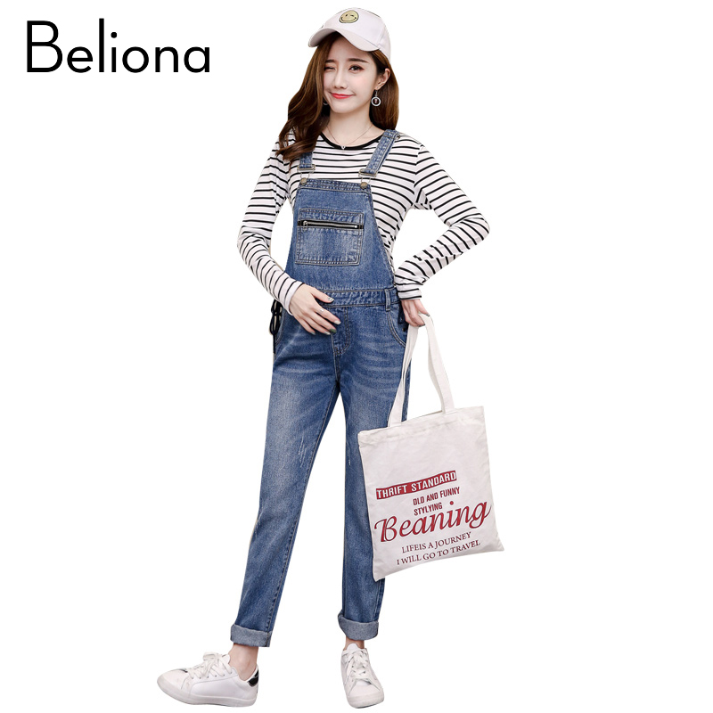 Denim Blue Maternity Jeans Overalls Jumpsuite Jumpsuits Casual Pregnant Trousers Fall Spring Winter Clothes for Pregnant Women oversize autumn winter men s tapered jeans trousers denim harem pant plus size 40 42 44 46 48