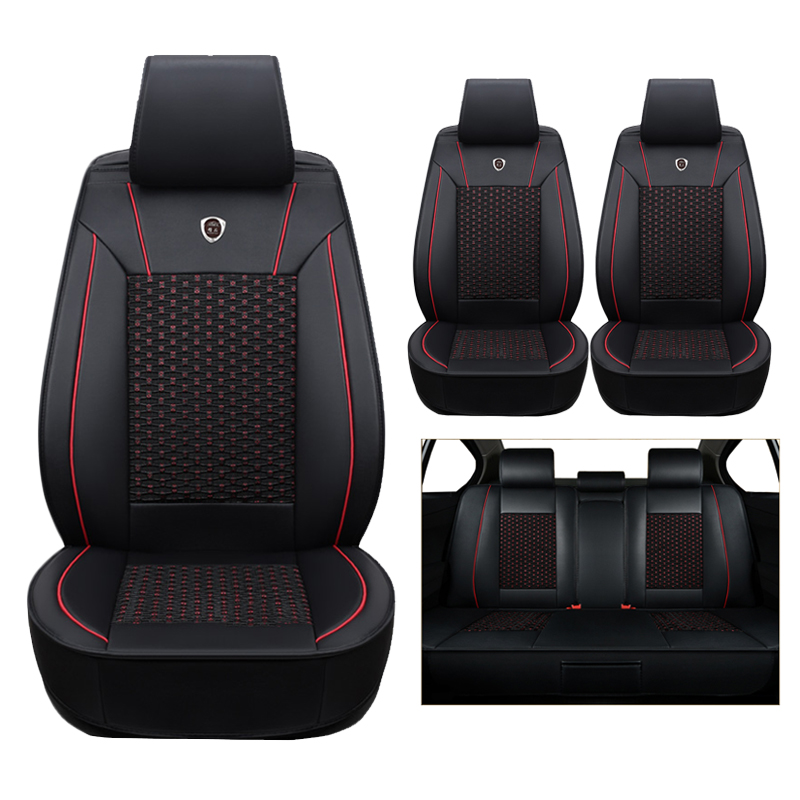 High quality leather silk Car Seat Cover For Skoda Octavia 2 a7 a5 Fabia Superb Rapid