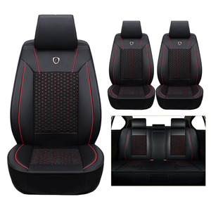 Image 1 - Hoogwaardige (lederen + zijde) Autostoel Cover Voor Skoda Octavia 2 a7 a5 Fabia Superb Rapid Yeti super cars accessoires styling auto