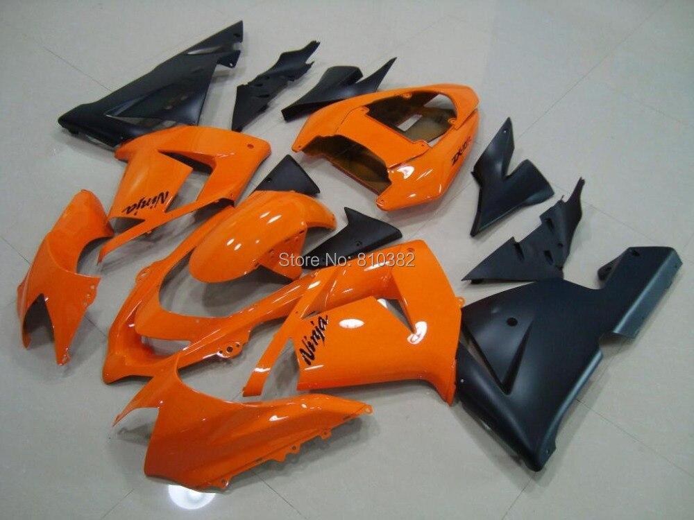 popular 04 zx10r fairings orange abs-buy cheap 04 zx10r fairings