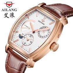 Элитный бренд для мужчин все сталь часы для мужчин Автоматический деловые часы multi функциональный Военная Униформа спортивные часы