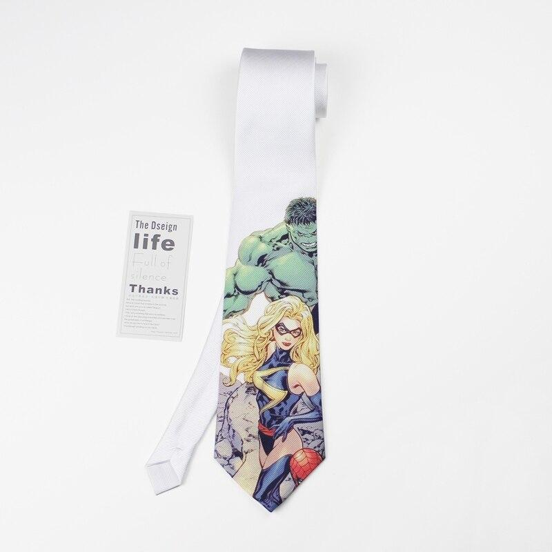 Men Tie 8cm Original Design Super Hero Neckties His And Hers American Classic Comic Neck Ties Unisex Cartoon Stropdas Heren