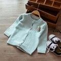 Niños de la rebeca de primavera otoño nuevo estilo niños suéter de la historieta bebés hicieron punto el suéter moda bastante lindo suéter