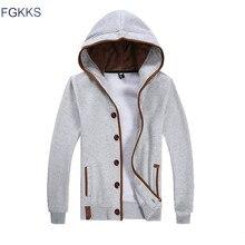 FGKKS 2017 Spring Cardigan Sweatshirts Hoodies Men Hip Hop Fashion Cloak Hooded Male Casual Sweatshirt Jacket Sudaderas Hombre