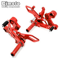 Bjmoto 2017 Motorcycle MT 09 FZ 09 CNC Adjustable Rearset Footrest Foot Rest Pegs For Yamaha MT09 MT 09 fz 09 FZ09 2013 2016