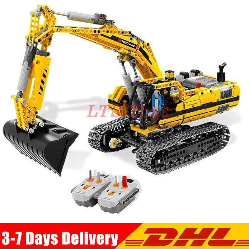 LEPIN 20007 Technic 1123pcs Excavator Model Building Blocks Bricks Compatible Legoings Toy Christmas Gift 8043 Educational Car lepin 20007 technic series engineering excavator diy set model building kits blocks bricks children toys christmas gift 8043