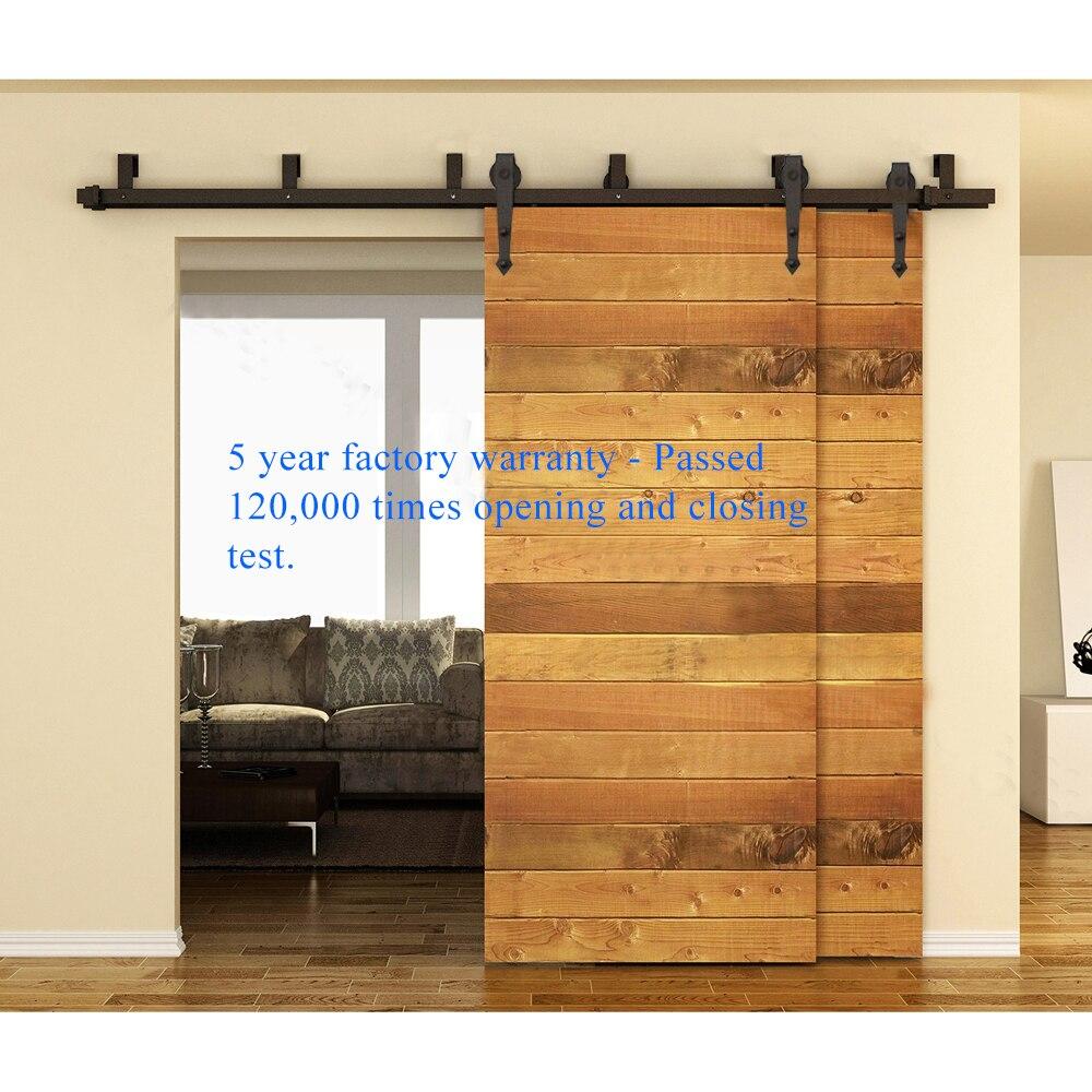 10 16ft Interior Barn Door Kits Sliding Rustic Wood Hardware Steel