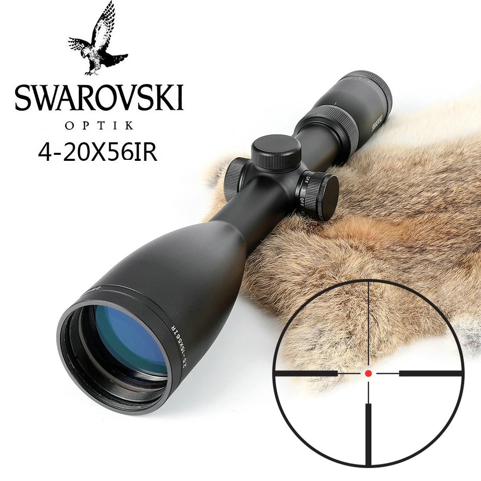 Imitation Swarovskl 4 20x56 SFIR Riflescope F15 Red Dot Reticle Hunting Rifle Scopes Made In China Compact Caccia Cannocchiale