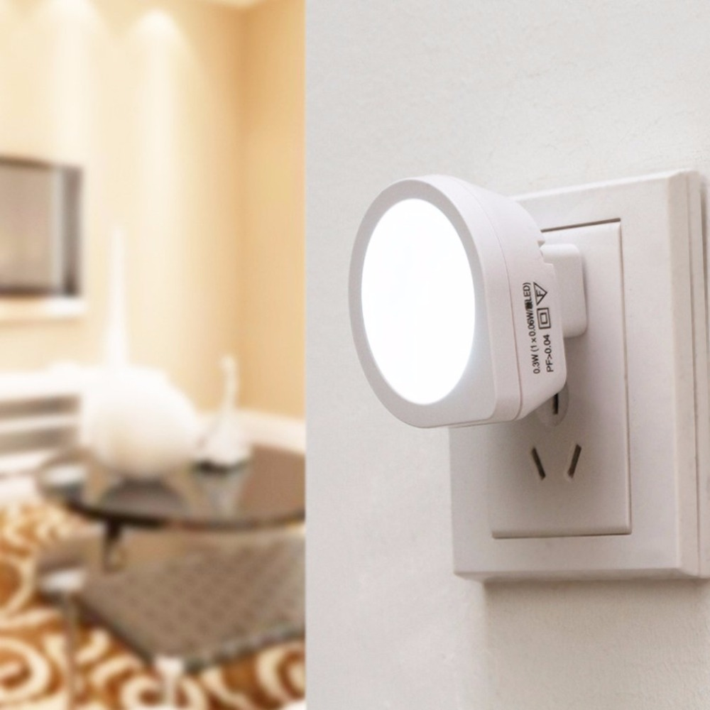 Mini LED Night Light Auto Sensor Baby Bedroom Emergency Lamp Smart Lighting Control Creative Cute Nightlights US Plug