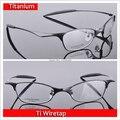 Marcos de Anteojos de titanio Hombres Montura de gafas de Silicona Para Hombre de Marca Óptica Gafas de Cristal Liso Marco de Ti de escuchas telefónicas