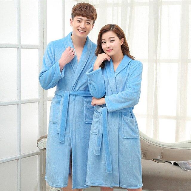 189f62c2c0 Women s Bathrobe Beautiful Breathable Coral Fleece Warm Super Sale robes  1pcs lot