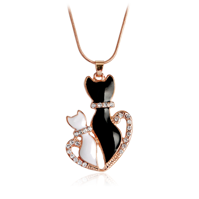Meow ~ Meow ~ Cat Kitty Hängsmycke Halsband Heart Hollow Claw Cat - Märkessmycken - Foto 6