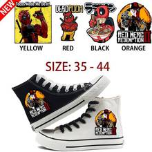 Deadpool Cosplay Printing Illustration High Top Double-layer Canvas Sneakers Teen Customized Fashion Trainers