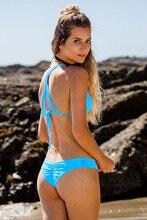 Biquine Women Brazilian Departure Beach Bikinis Set